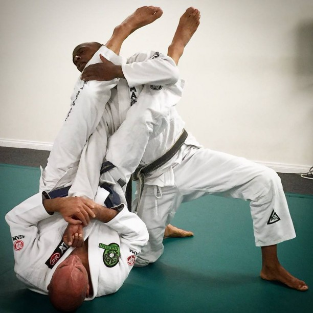 Black belt Pat King jiu jitsu and Royce Gracie armbar