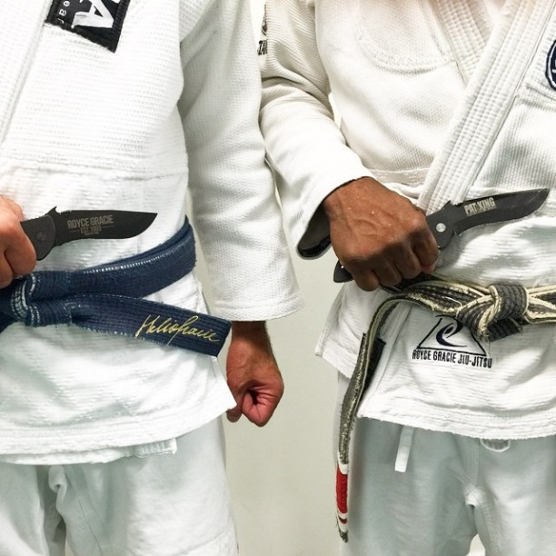 Royce Gracie Pat King and Emerson Knives